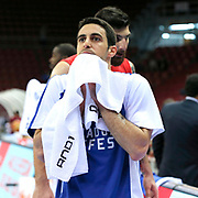 Anadolu Efes's Dogus Balbay during their Turkish Basketball League Play Off Semi Final round 2 match Anadolu Efes between Trabzonspor at Abdi Ipekci Arena in Istanbul Turkey on Friday 31 May 2015. Photo by Aykut AKICI/TURKPIX