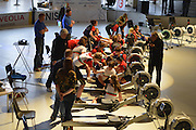 Berlin, GERMANY.  [DOW]   [Date]  Athletes competing in the  2nd leg of the German Indoor Rowing Series 2012/2013  at the  Cupola Hall,  Berlin Sport House, Berlin Olympic Stadium.  [2. Lauf der Deutschen Indoor Rowing Serie 2012/2013. [Haus des Deutschen Sport],  at the Kuppelsaal Halle, Olympiagelände, Berlin, Berlin Olympiastadion, a venue in the 11th Olympiad 1936, [Mandatory Credit: Peter Spurrier/Intersport Images]
