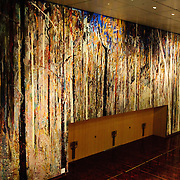 The public entrance to Parliament House opens into a main foyer leading into the Great Hall, which features a tapestry based on a painting by Arthur Boyd, the original of which is also on display in the building. Functions that have parliamentary and federal relevance often take place here, but the Great Hall is also open to functions for the general public, such as weddings, and the nearby University of Canberra hosts graduation ceremonies here.