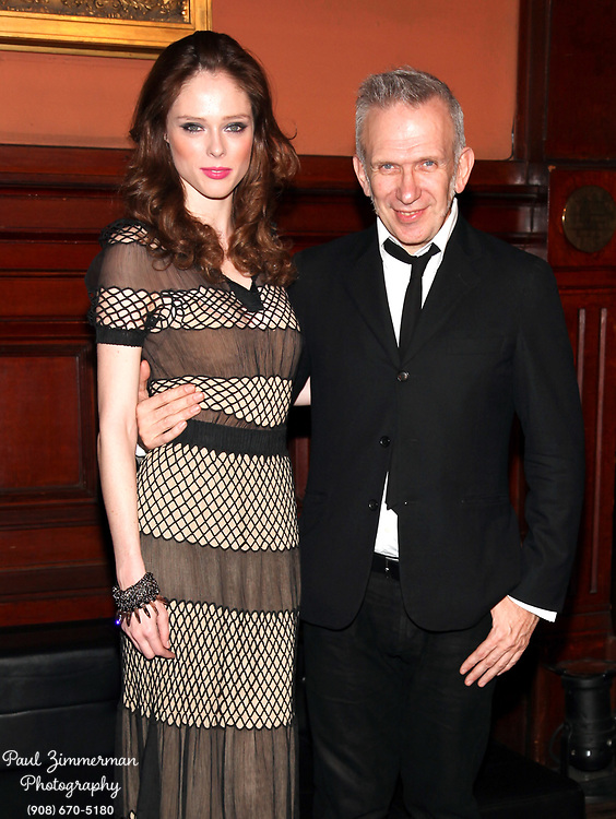 NEW YORK, NY - MARCH 17:  (L-R) Coco Rocha and fashion designer Jean Paul Gaultier attend the Lycee Francais de New York 2012 gala at the Park Avenue Armory on March 17, 2012 in New York City.  (Photo by Paul Zimmerman/WireImage)