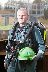 Liam Parish. Mine Rescue Service at Crossgates Training Centre, Crossgates, Fife..Pic © Michael Schofield.