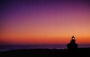 Point Cabrillo Light Station at dusk in Mendocino, CA.