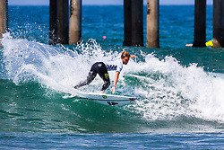 Parker Coffin (USA) advances to Round 2 of the 2018 VANS US Open of Surfing after winning Heat 7 of Round 1 at Huntington Beach, California, USA.