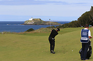 Lee Slattery (ENG) on the 4th during Round 4 of the Aberdeen Standard Investments Scottish Open 2019 at The Renaissance Club, North Berwick, Scotland on Sunday 14th July 2019.<br /> Picture:  Thos Caffrey / Golffile<br /> <br /> All photos usage must carry mandatory copyright credit (© Golffile | Thos Caffrey)