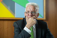 22 SEP 2016, BERLIN/GERMANY:<br /> Winfried Kretschmann, B90/Gruene, Ministerpraesident Baden-Wuerttemberg, waehrend einem Interview, Landesvertertung Baden-Wuerttemberg<br /> IMAGE: 20160922-01-021