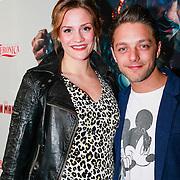 NLD/Amsterdam/20130423 - Premiere Iron Man 3, Tommie Christiaan en partner zwangere Michelle Splietelhof