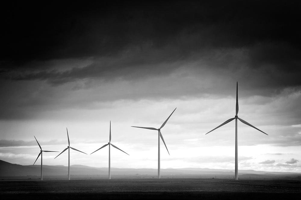 Wind farm in Pincher Creek Alberta