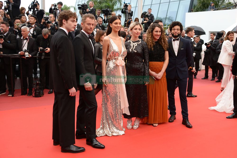 May 18, 2019 - Cannes, France - CANNES, FRANCE - MAY 18: (L-R) Ben Rosenfield, Calvin Demba, James Badge Dale, Camila Morrone, Annabelle Attanasio and guest attend the screening of ''Les Plus Belles Annees D'Une Vie'' during the 72nd annual Cannes Film Festival on May 18, 2019 in Cannes, France. (Credit Image: © Frederick InjimbertZUMA Wire)