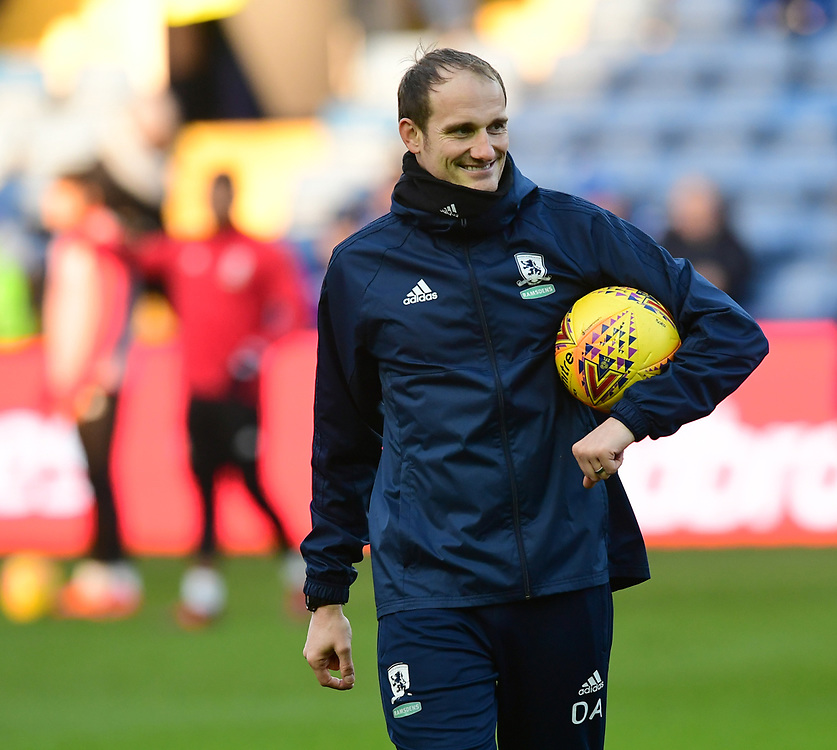 Middlesbrough's first team coach David Adams during the pre-match warm-up<br /> <br /> Photographer Chris Vaughan/CameraSport<br /> <br /> The EFL Sky Bet Championship - Sheffield Wednesday v Middlesbrough - Saturday 23rd December 2017 - Hillsborough - Sheffield<br /> <br /> World Copyright © 2017 CameraSport. All rights reserved. 43 Linden Ave. Countesthorpe. Leicester. England. LE8 5PG - Tel: +44 (0) 116 277 4147 - admin@camerasport.com - www.camerasport.com