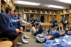 14 April 2008: North Carolina Tar Heels men's lacrosse defenseman Sean Jackson (33), attackman Kevin Federico (3) and midfielder Sean Burke (42) during a practice day in Chapel Hill, NC.