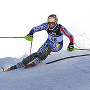 Nick Daniels, USA, in action during the Men's Slalom event during the Winter Games at Cardrona, Wanaka, New Zealand, 24th August 2011. Photo Tim Clayton...
