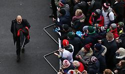 England coach Eddie Jones arrives for the NatWest 6 Nations match at Twickenham Stadium, London.