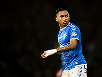 Football - 2019 Betfred Scottish League Cup Final - Celtic vs. Rangers<br /> <br /> Alfredo Morelos of Rangers during the game, Hampden Park Glasgow.<br /> <br /> COLORSPORT/BRUCE WHITE