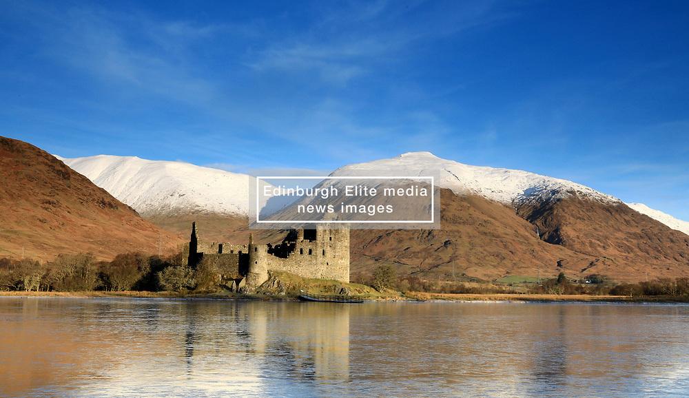 Kilchurn Castle, Loch Awe at sunrise on cold crisp winters morning.. (c) Stephen Lawson   Edinburgh Elite media