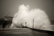 A large sea with a long range swell slammed the seafront at Trearddur Bay at the end of November. Cars parked in the car park were literally covered in wave after huge wave - and pebbles! I shot from within the van for there was also torrential rain and swirling sea spray everywhere. These were some of the biggest wave crashes I'd personally witnessed here at Trearddur, though I'm sure there must be loads more occasions like this.