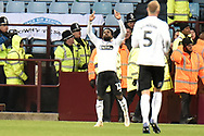Swansea City midfielder Nathan Dyer (12) scores a goal and celebrates  0-2 during the The FA Cup 3rd round match between Aston Villa and Swansea City at Villa Park, Birmingham, England on 5 January 2019.