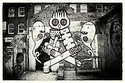 Street art by Kid Acne & Dscreet, Shoreditch, East London http://www.vivecakohphotography.co.uk/2011/04/06/2982/