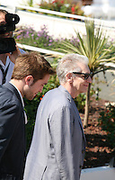 David Cronenberg and Robert Pattinson arrive at the  Cosmopolis photocall at the 65th Cannes Film Festival France. Cosmopolis is directed by David Cronenberg and based on the book by writer Don Dellilo.  Friday 25th May 2012 in Cannes Film Festival, France.