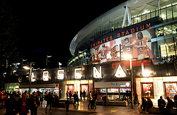 A general view of the Emirates Stadium prior to the match
