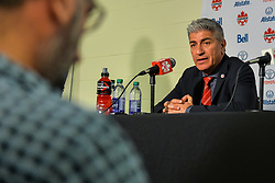 September 3, 2017 - Toronto, Ontario, Canada - Canada Soccer Men's National Team Head Coach Octavio Zambrano during press conference after the Canada-Jamaica Men's International Friendly match at BMO Field in Toronto, Canada on 2 September 2017. (Credit Image: © Anatoliy Cherkasov/NurPhoto via ZUMA Press)