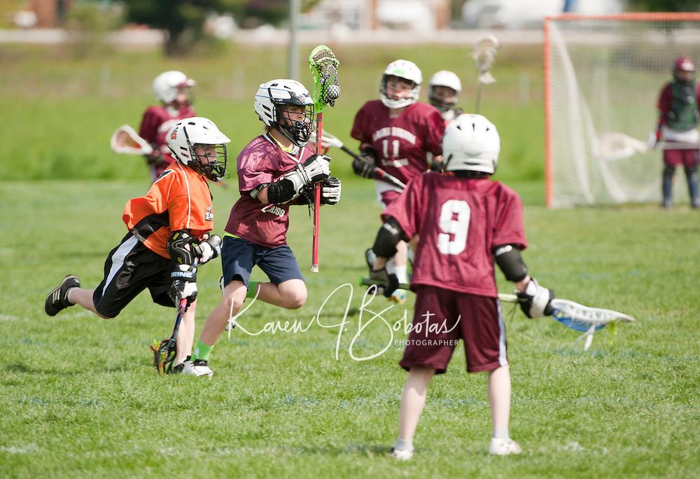 Lakes Region Lacrosse U11 boys versus Keene's Orange Crush May 11, 2012.