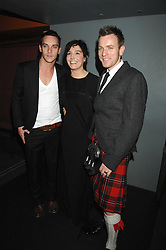 Left to right, JONATHAN RHYS MEYERS, SHARLEEN SPITERI and EWAN MCGREGOR at 'Not Another Burns Night' in association with CLIC Sargebt and Children's Hospice Association Scotland held at ST.Martins Lane Hotel, London on 3rd March 2008.<br /><br />NON EXCLUSIVE - WORLD RIGHTS