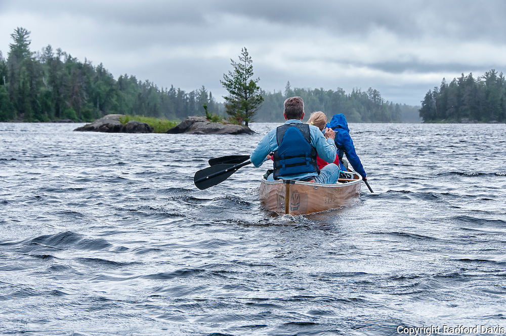 Paddling into a storm, Boundary Waters.