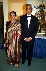 MR & MRS HARSHAD PATEL founder of the Vanishing Herds Foundation at the charity Vanishing Herd Foundation - Conservation Ball held at the Radison Hotel, Portman Square, London on 13th November 2004.<br /><br />NON EXCLUSIVE - WORLD RIGHTS