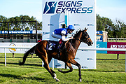 Motamayiz ridden by David Egan and trained by R Varian wins The Download The At The Races App Handicap (Class 6) (3YO only) - Mandatory by-line: Robbie Stephenson/JMP - 25/06/2020 - HORSE RACING - Bath Racecoure - Bath, England - Bath Races 25/06/20