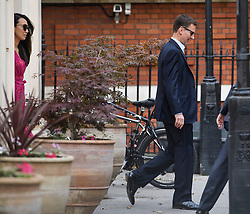 © Licensed to London News Pictures. 24/07/2019. London, UK. JEREMY HUNT is seen leaving his home in Westminster, London with his wife LUCIA (left) the morning after losing the Conservative party leadership election. The Conservative Party has elected Boris Johnson as their new leader and Prime Minister, following Theresa May's announcement that she will step down. Photo credit: Ben Cawthra/LNP