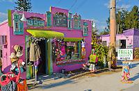 Shopping in Matlacha on Florida's Gulf coast islands.USA.