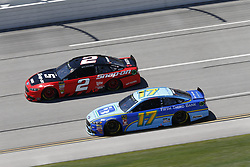 April 29, 2018 - Talladega, Alabama, United States of America - Ricky Stenhouse, Jr (17)  battles side by side down the front stretch for position during the GEICO 500 at Talladega Superspeedway in Talladega, Alabama. (Credit Image: © Justin R. Noe Asp Inc/ASP via ZUMA Wire)