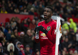 Axel Tuanzebe of Manchester United applauds the fans as he walks off - Mandatory by-line: Jack Phillips/JMP - 18/12/2019 - FOOTBALL - Old Trafford - Manchester, England - Manchester United v Colchester United - English League Cup Quarter Final