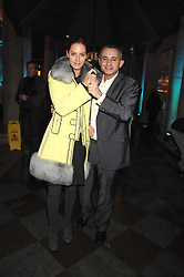 TRINNY WOODALL and her husband JONNY ELICHAOFF at a Winter Party to celebrate the opening of the Ice Rink at Somerset House, London in association with jewellers Tiffany on 20th November 2007.<br />