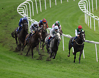 Horse Racing - 2021 Epsom Festival - Oaks Friday - Epsom Downs CORAL CORONATION CUP<br /> <br /> Winner, Pyledriver No.5 (red cap) leads at T Tottenham corner<br /> <br /> <br /> Credit : COLORSPORT/ANDREW COWIE