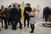ANDREW SOAR; DENI KIRKOVA, Editor of Wallpaper: Tony Chambers and architect Annabelle Selldorf host drinks to celebrate the collaboration between the architect and three of Savile Row's finest: Hardy Amies, Spencer hart and Richard James. Hauser and Wirth Gallery. ( Current show Isa Genzken. ) savile Row. London. 9 January 2012.
