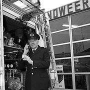 NLD/Huizen/19900108 - Ondercommandant Fledderus brandweer Huizen