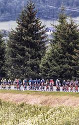 11.07.2019, Kitzbühel, AUT, Ö-Tour, Österreich Radrundfahrt, 5. Etappe, von Bruck an der Glocknerstraße nach Kitzbühel (161,9 km), im Bild Peloton // Peloton during 5th stage from Bruck an der Glocknerstraße to Kitzbühel (161,9 km) of the 2019 Tour of Austria. Kitzbühel, Austria on 2019/07/11. EXPA Pictures © 2019, PhotoCredit: EXPA/ JFK