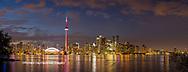 60912-00316 Toronto skyline at night from Toronto Island Park Toronto, Ontario Canada