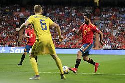 June 11, 2019 - Madrid, Spain - ISCO of Spain in action during the EURO Qualifier match between Spain v Sweden at the Estadio Santiago Bernabeu on June 10, 2019 in Madrid Spain Photo: Oscar Gonzalez/NurPhoto  (Credit Image: © Oscar Gonzalez/NurPhoto via ZUMA Press)
