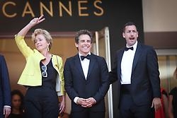 Actress Emma Thompson, actor Ben Stiller and actor Adam Sandler of 'The Meyerowitz Stories' attend the 'The Meyerowitz Stories' screening during the 70th annual Cannes Film Festival at Palais des Festivals on May 21, 2017 in Cannes, France. Photo by Shootpix/ABACAPRESS.COM