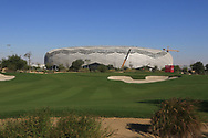 A view of the new Education City Stadium built for the 2022 World Cup from the 1st during the Pro-Am of the Commercial Bank Qatar Masters 2020 at the Education City Golf Club, Doha, Qatar . 04/03/2020<br /> Picture: Golffile   Thos Caffrey<br /> <br /> <br /> All photo usage must carry mandatory copyright credit (© Golffile   Thos Caffrey)