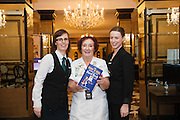 03/11/2016 Repro fee: Rita Gilligan's book The Rock 'n' Roll Waitress from The Hard Rock Cafe My Life by Rita Gilligan  in Hotel Meyrick, Galway was launched my Cllr. Noel Larkin Mayor of Galway.  Paula Fitzgerald Hotel Meyrick with author Rita Gilligan and Margaret McCormack Hotel Meyrick<br /> .   Photo :Andrew Downes, XPOSURE