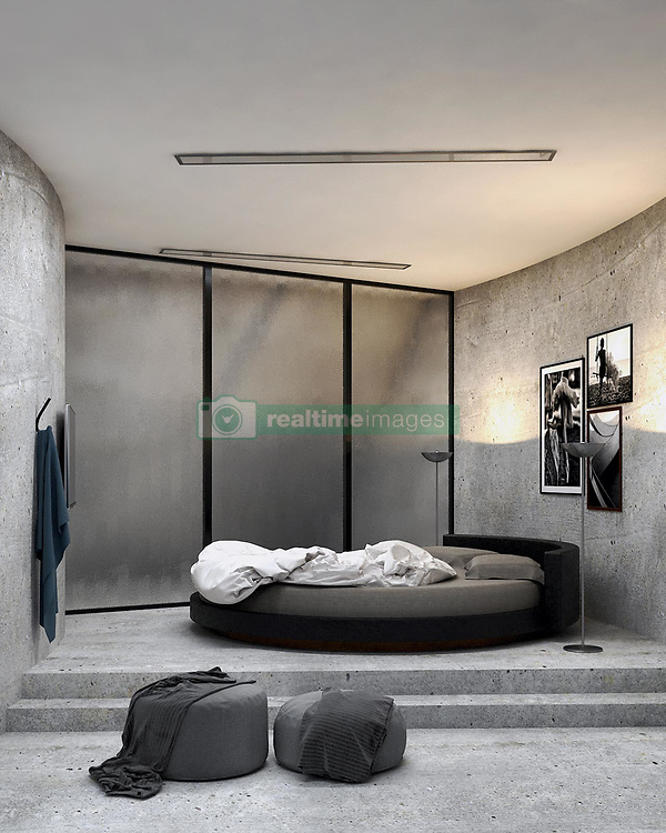 """A concept home designed by an Iranian architect wouldn't look out of place in the next James Bond movie as the villains evil lair.<br /> <br /> Architect Reza Mohtashami's most recent concept, the aptly named Concrete House, isn't meant to be an evil lair as far as we know, but it certainly wouldn't look out of place in a summer blockbuster.<br /> <br /> The austere residence is a cliffside dwelling that somehow manages to look both sinister and beautiful at the same time.<br /> <br /> No stranger to Brutalist-style buildings, Mohtashami's latest design attempts to bring together the natural and unnatural.<br /> <br /> In a series of renders created up by the designer himself, the curved structure, which is made almost entirely of concrete, can be seen protruding out of a frightening rock surface.<br /> <br /> A significant portion of the dwelling juts out over the cliff's edge, supported by a series of pillars.<br /> <br /> While it's clear the building does not belong there, Mohtashami has also managed to design a home that fits naturally into the surroundings.<br /> <br /> """"The exterior and interior concrete building, which rotates in the rocks and into the lake and the forest, can give the resident a feeling of relaxation."""" explains Reza.<br /> <br /> Inside there's a stripped-down vibe to the curved living area but there's more than enough room for everything you could need, including a kitchen, bedroom and an entertainment area that offers a completely unobstructed view of the surrounding landscape.<br /> <br /> The large window is complemented by another that runs along the interior of the entire structure, flooding the space with natural light.<br /> <br /> When: 18 Feb 2020<br /> Credit: Reza Mohtashami/Cover Images<br /> <br /> **EDITORIAL USE ONLY. MATERIALS ONLY TO BE USED IN CONJUNCTION WITH EDITORIAL STORY. THE USE OF THESE MATERIALS FOR ADVERTISING, MARKETING OR ANY OTHER COMMERCIAL PURPOSE IS STRICTLY PROHIBITED. MATERIAL COPYRIGHT REMAINS WITH REZA """