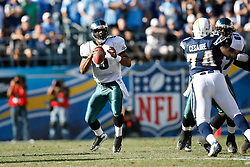 Philadelphia Eagles quarterback Donovan McNabb #5 during the NFL game between the Philadelphia Eagles and the San Diego Chargers on November 15th 2009. At Qualcomm Stadium in San Diego, California. (Photo By Brian Garfinkel)