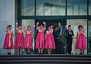 KUMGANG<br /> THE NORTH KOREAN GHOST TOWN<br /> <br /> The first town USA will find on his way to invade NK will be this ghost town where HUnday lost 1 billion USD..<br /> <br /> The Mount Kumgang tourist complex in North Korea, near the DMZ, was built in 1998 by the South Korean giant company Hyundai. The chaebol paid a fee of $1 billion to the North Korean government for 50 years of exclusivity. The cost of the 500-square kilometer complex was $400 million, including hotels, a spa, a fire station, a tourism office, a golf course, a supermarket, a clinic, tours in the mountain... Kumgang resort attracted nearly 2 millions south korean tourists from1998 to 2008.<br /> In July 2008 a South Korean tourist, Miss Park Wang-ja, was shot dead there and South Korea decided to stop all the tours in North Korea. The North Korean government said the tourist entered the military zone, and ignored the warnings from the north korean soldiers.<br /> So in retaliation, North Korea decided to seize the whole tourist complex. This decision was a real drama. Not for the touristic industry only, but for the separated families from the south and the north: Kumgang was also the place where hundreds of North and South Korean relatives were meeting each other for the first time in decades.<br /> For those reasons, since 2008, Mount Kumgang complex has became a ghost town. Only very few western tourists could visit the area.<br /> <br /> Photo shows:  The last news about the resort tell that North Korea is trying to launch a new cruise ship routes linking Kumgang to Vladivostok, including a casino on board.Meanwhile, the old people from the north and south separated in the 50's die slowly and have very few hope to meet each other one day...<br /> ©Eric Lafforgue/Exclusivepix Media