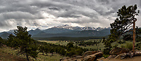 Springtime storm clouds over Rocky Mountain National Park. Composite of two images taken with a Nikon D2xs camera and 17-55 mm f/2.8 lens (ISO 100, 17 mm, f/6, 1/250 sec).