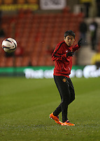 Manchester United's Shinji Kagawa before the match at  The Britannia Stadium. <br /> EMPICS Photo. Picture date: Wednesday December 18, 2013.   Photo credit should read: Lynne Cameron/Empics