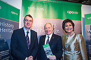 NO FEE PICTURES<br /> 23/1/16 Minister for Tourism Michael Ring and Maureen Ledwith, organiser of the Holiday World Show at the GPO stand at the Holiday World Show at the RDS in Dublin. Picture: Arthur Carron