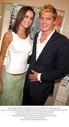 MR JACOBI ANSTRUTHER-GOUGH-CALTHORPE son of Lady Mary-Gay Curzon and MISS OCTAVIA KHASHOGGI at a party in London on 7th May 2003.	PJJ 149